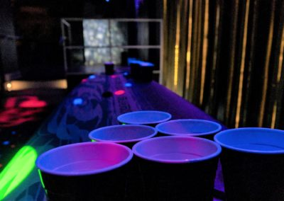 Blacklight Neon Surf Board Beer Pong